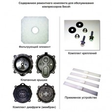 Ремкомплект для замены мембран и клапанов к воздуходувкам Secoh EL-120, 150, 250W, 300W